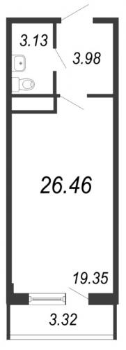 Студия на продажу (26,5 м<sup>2</sup>)