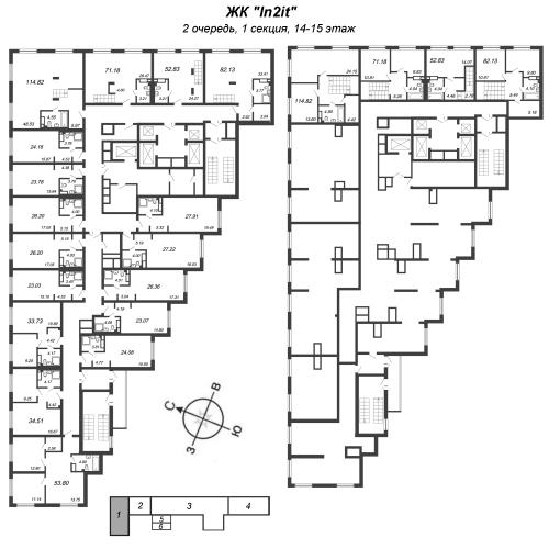 3-комнатная квартира на продажу (114,8 м<sup>2</sup>)
