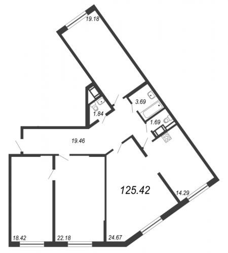 4-комнатная квартира на продажу (125,4 м<sup>2</sup>)
