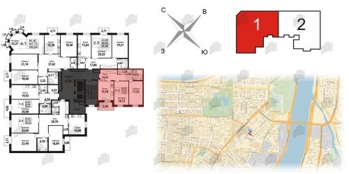 2-комнатная квартира на продажу (72,1 м<sup>2</sup>)