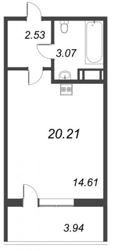 Студия на продажу (20,2 м<sup>2</sup>)