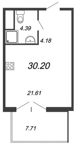 Студия на продажу (32,4 м<sup>2</sup>)