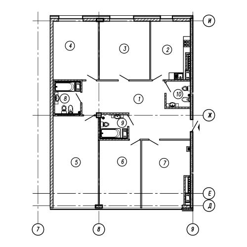 5-комнатная квартира на продажу (177,8 м<sup>2</sup>)