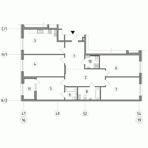 4-комнатная квартира на продажу (132,0 м<sup>2</sup>)