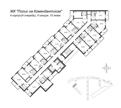 2-комнатная квартира на продажу (31,5 м<sup>2</sup>)