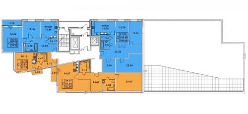 3-комнатная квартира на продажу (108,9 м<sup>2</sup>)