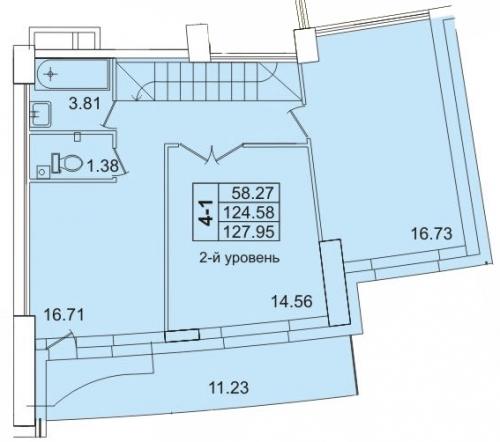 4-комнатная квартира на продажу (130,4 м<sup>2</sup>)