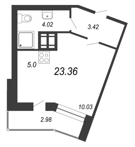 Студия на продажу (23,4 м<sup>2</sup>)