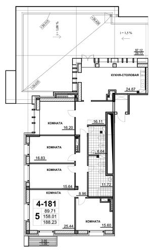 5-комнатная квартира на продажу (190,7 м<sup>2</sup>)