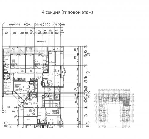 2-комнатная квартира на продажу (64,2 м<sup>2</sup>)