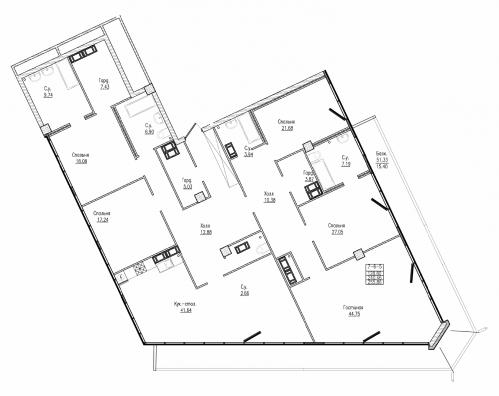 5-комнатная квартира на продажу (255,9 м<sup>2</sup>)