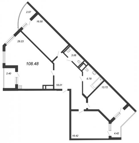 3-комнатная квартира на продажу (108,5 м<sup>2</sup>)