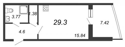 Студия на продажу (29,3 м<sup>2</sup>)