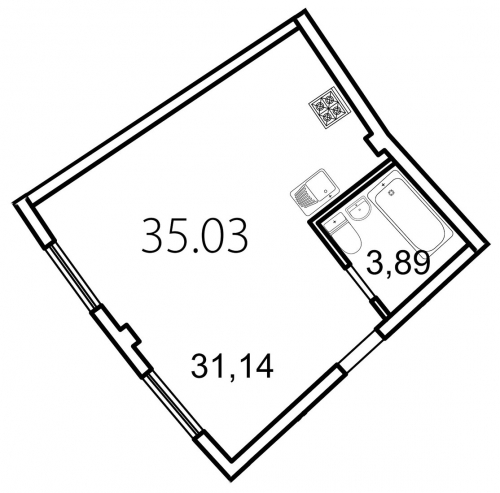 Студия на продажу (35,0 м<sup>2</sup>)