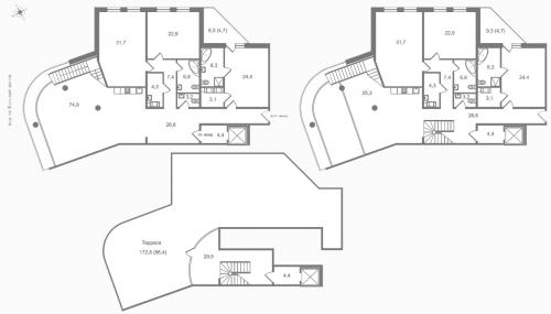 7-комнатная квартира на продажу (334,4 м<sup>2</sup>)