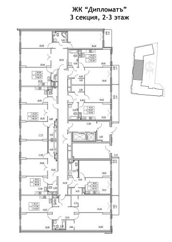 3-комнатная квартира на продажу (113,0 м<sup>2</sup>)