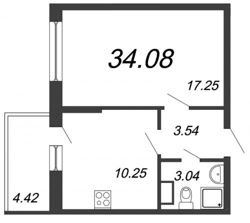 5-комнатная квартира на продажу (34,1 м<sup>2</sup>)