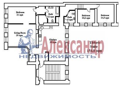 5-комнатная квартира (151м2) в аренду по адресу Канала Грибоедова наб., 12— фото 5 из 9
