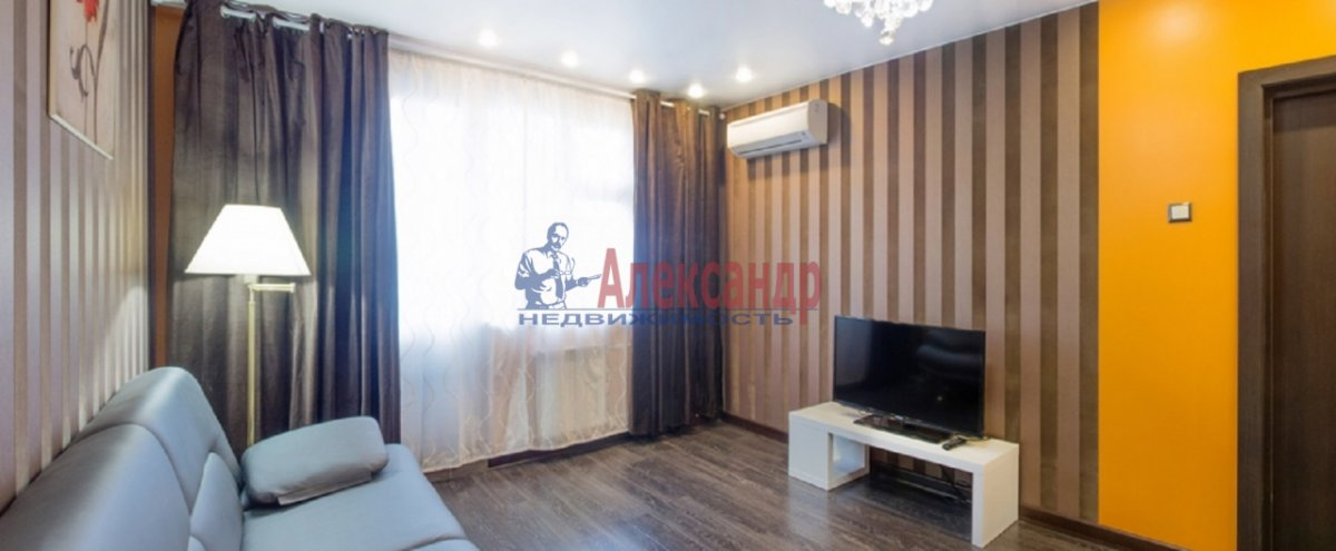 1-комнатная квартира (53м2) в аренду по адресу Коломяжский пр., 20— фото 4 из 7