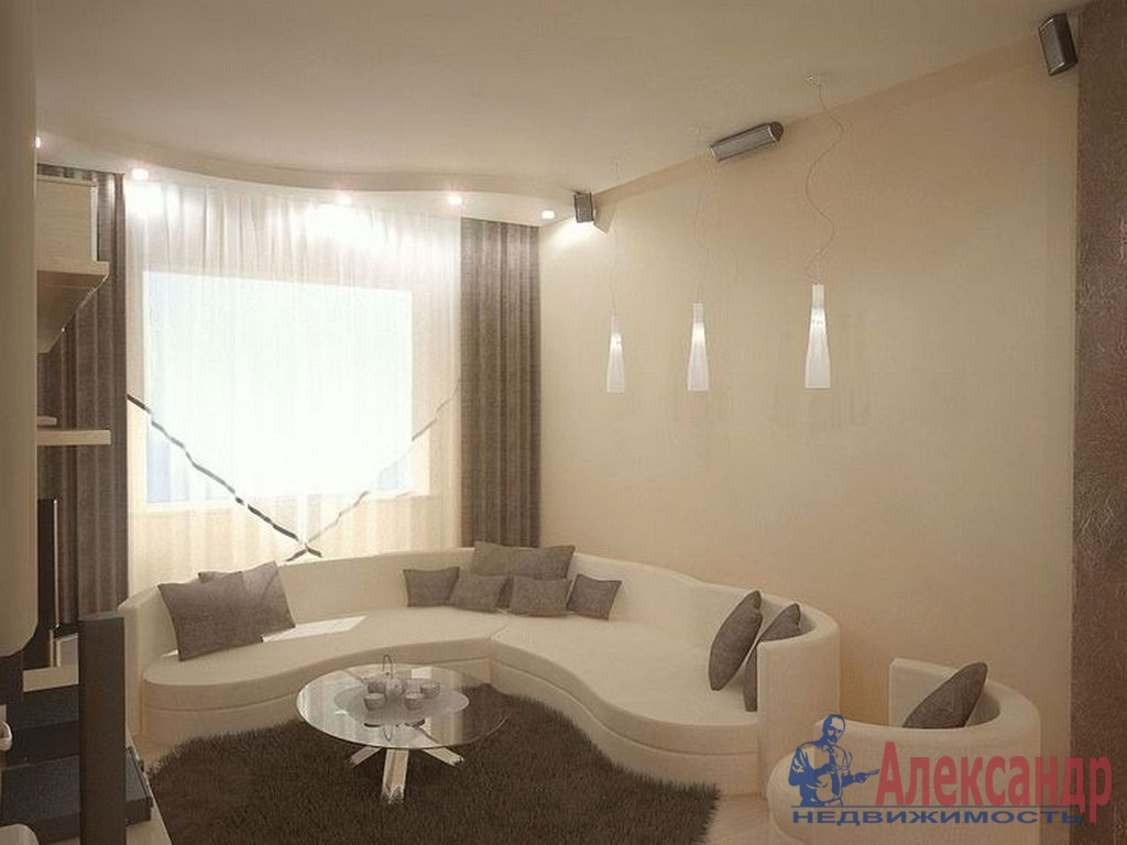 1-комнатная квартира (49м2) в аренду по адресу Кораблестроителей ул., 30— фото 1 из 3