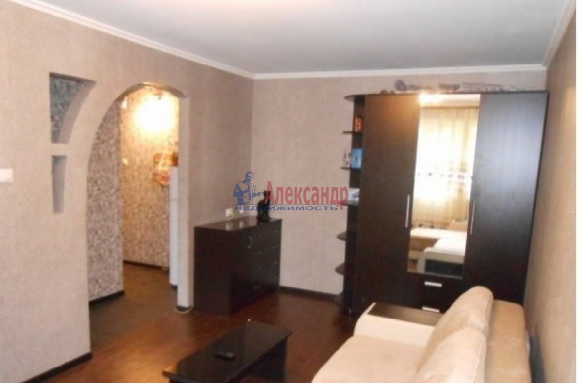 1-комнатная квартира (34м2) в аренду по адресу Народного Ополчения пр., 141— фото 1 из 5