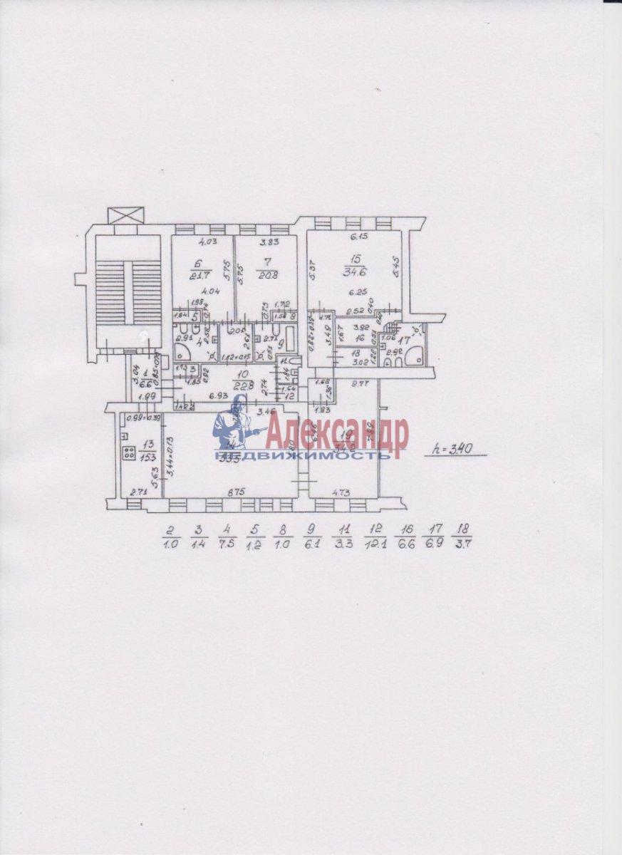 5-комнатная квартира (260м2) в аренду по адресу Рубинштейна ул., 36— фото 6 из 14
