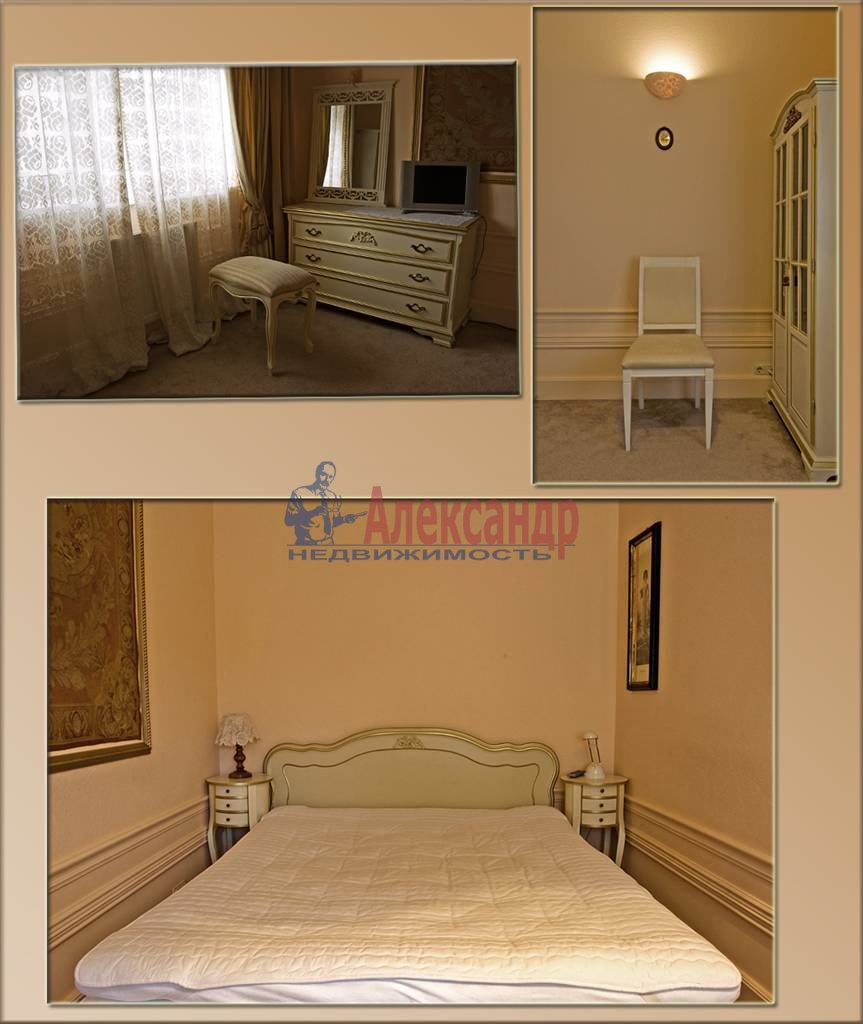 3-комнатная квартира (100м2) в аренду по адресу Крестовский пр., 13— фото 6 из 10