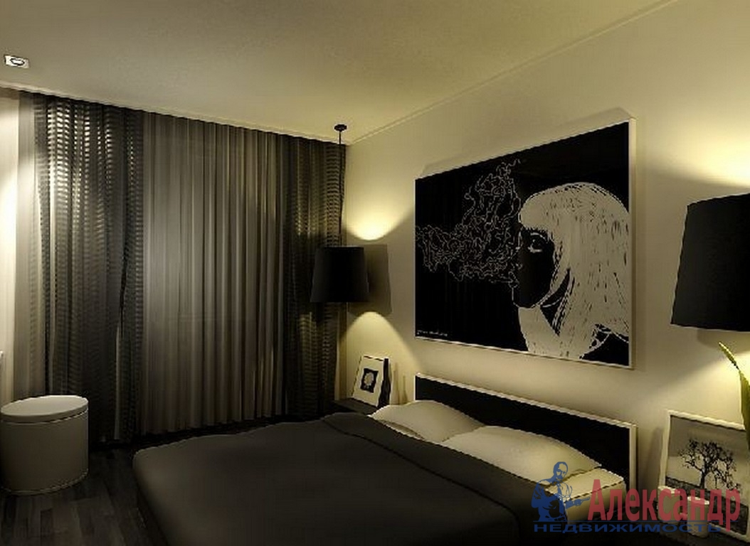 2-комнатная квартира (58м2) в аренду по адресу Обуховской Обороны пр., 138— фото 2 из 3