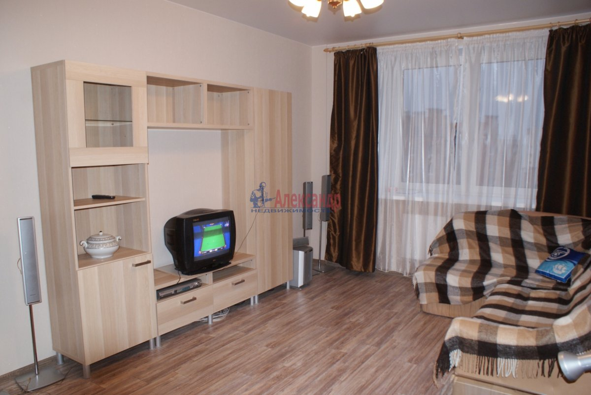 1-комнатная квартира (35м2) в аренду по адресу Парголово пос., Михаила Дудина ул., 25— фото 3 из 3