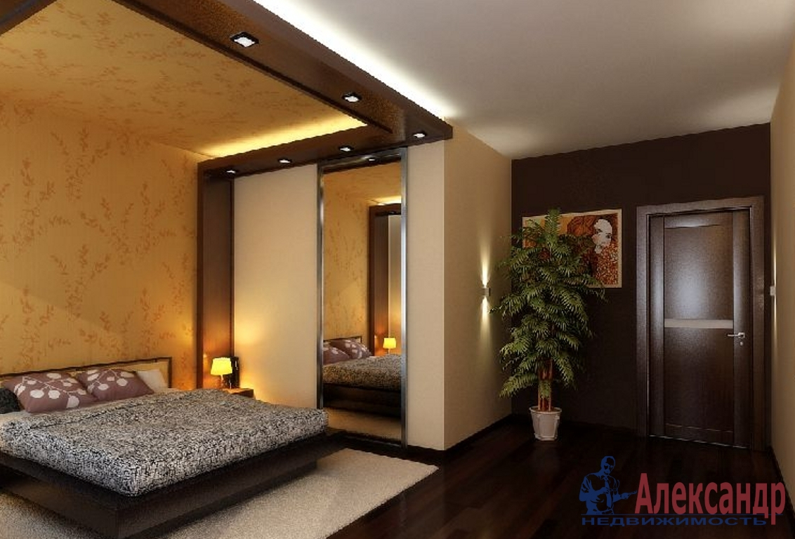 3-комнатная квартира (105м2) в аренду по адресу Морской пр., 15— фото 2 из 3