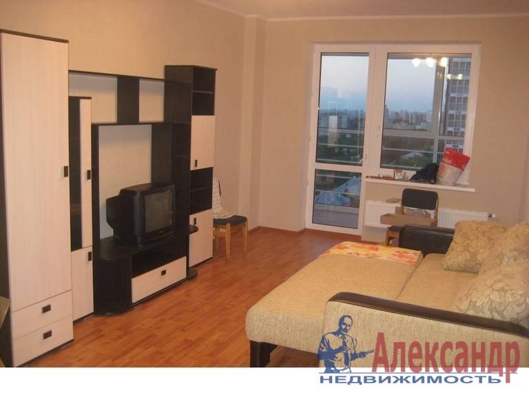 1-комнатная квартира (39м2) в аренду по адресу Коллонтай ул., 17— фото 1 из 3