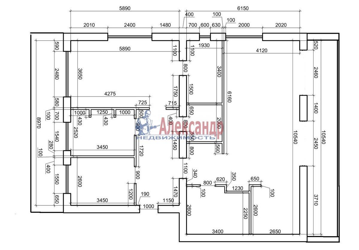 3-комнатная квартира (130м2) в аренду по адресу Солнечное пос., Нагорная ул., 2— фото 12 из 12