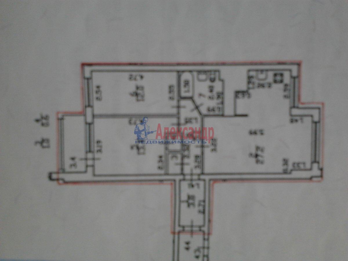 3-комнатная квартира (68м2) в аренду по адресу Наличная ул., 36— фото 8 из 10
