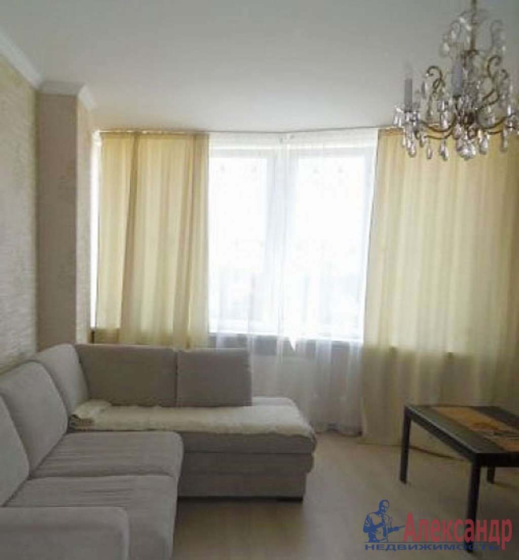 1-комнатная квартира (41м2) в аренду по адресу Кораблестроителей ул., 30— фото 1 из 4