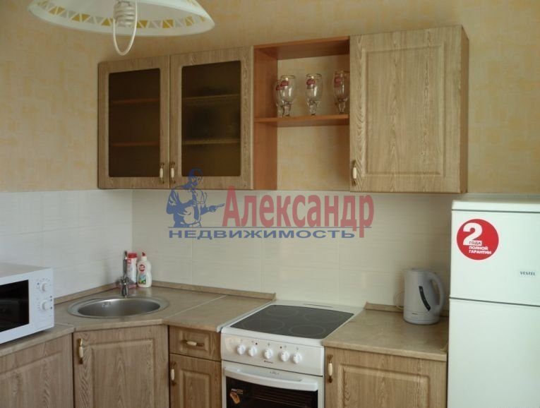 1-комнатная квартира (40м2) в аренду по адресу Богатырский пр., 12— фото 1 из 6