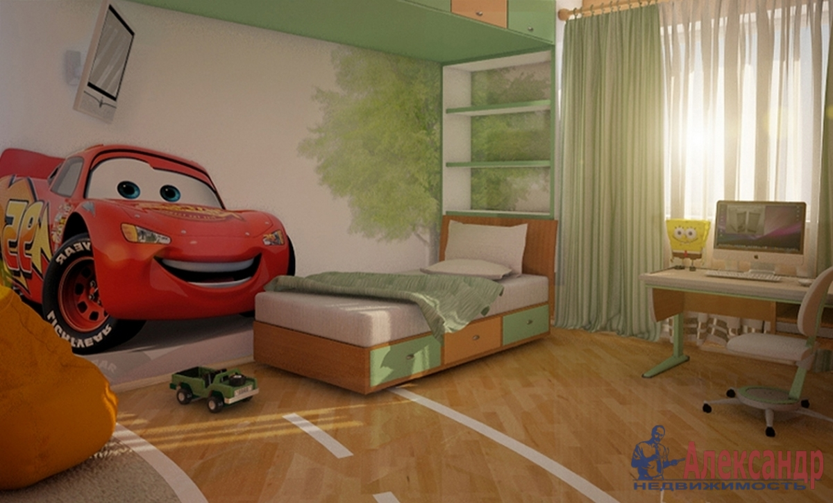 3-комнатная квартира (100м2) в аренду по адресу Кораблестроителей ул., 30— фото 1 из 4