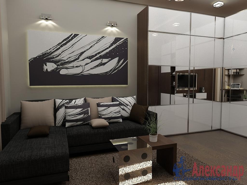 1-комнатная квартира (42м2) в аренду по адресу Шкапина ул., 11— фото 1 из 3