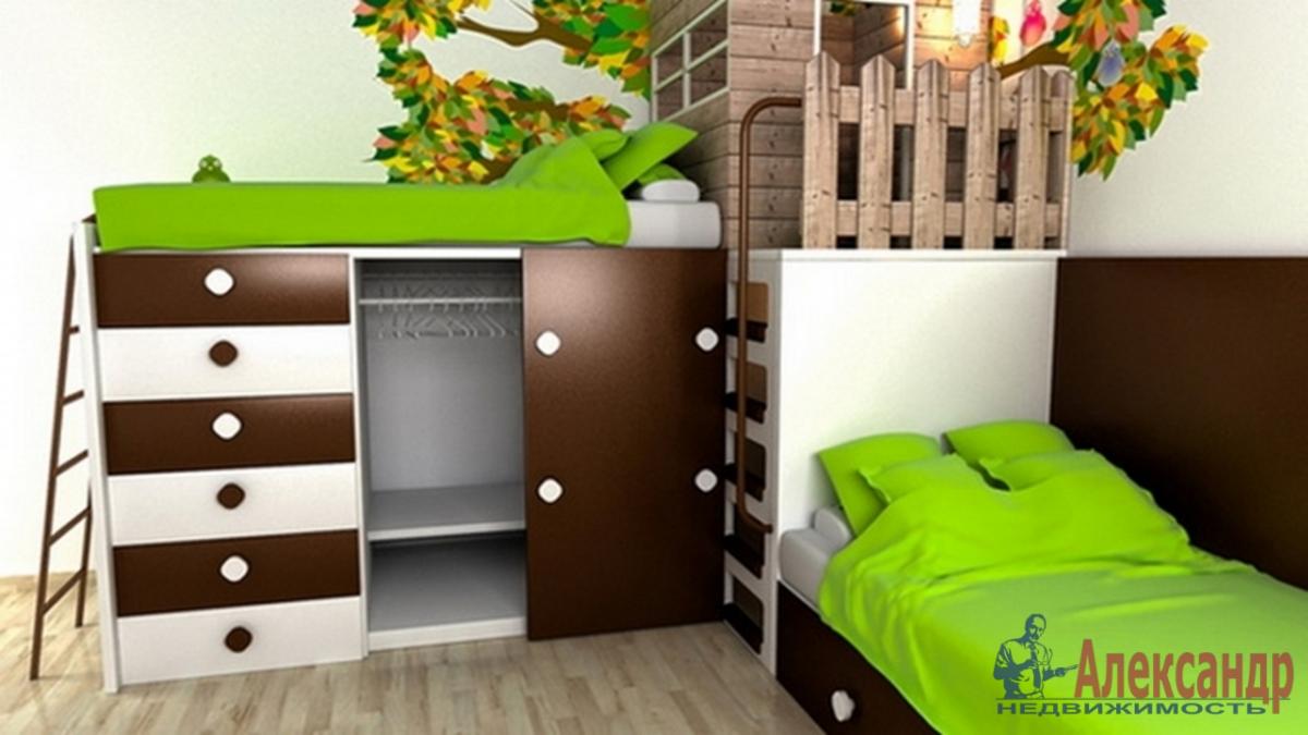 2-комнатная квартира (60м2) в аренду по адресу Ленсовета ул., 88— фото 2 из 4