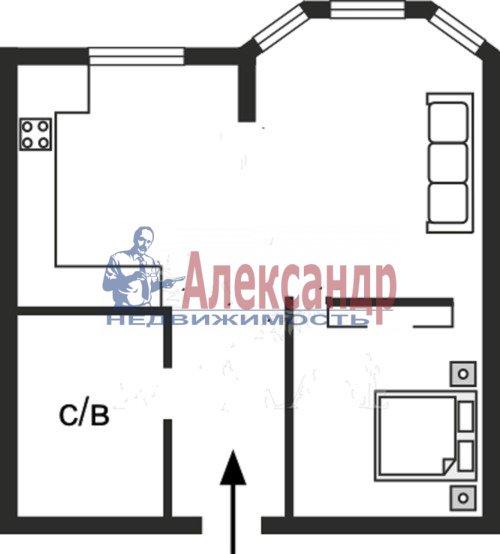 1-комнатная квартира (47м2) в аренду по адресу Дибуновская ул., 50— фото 3 из 7