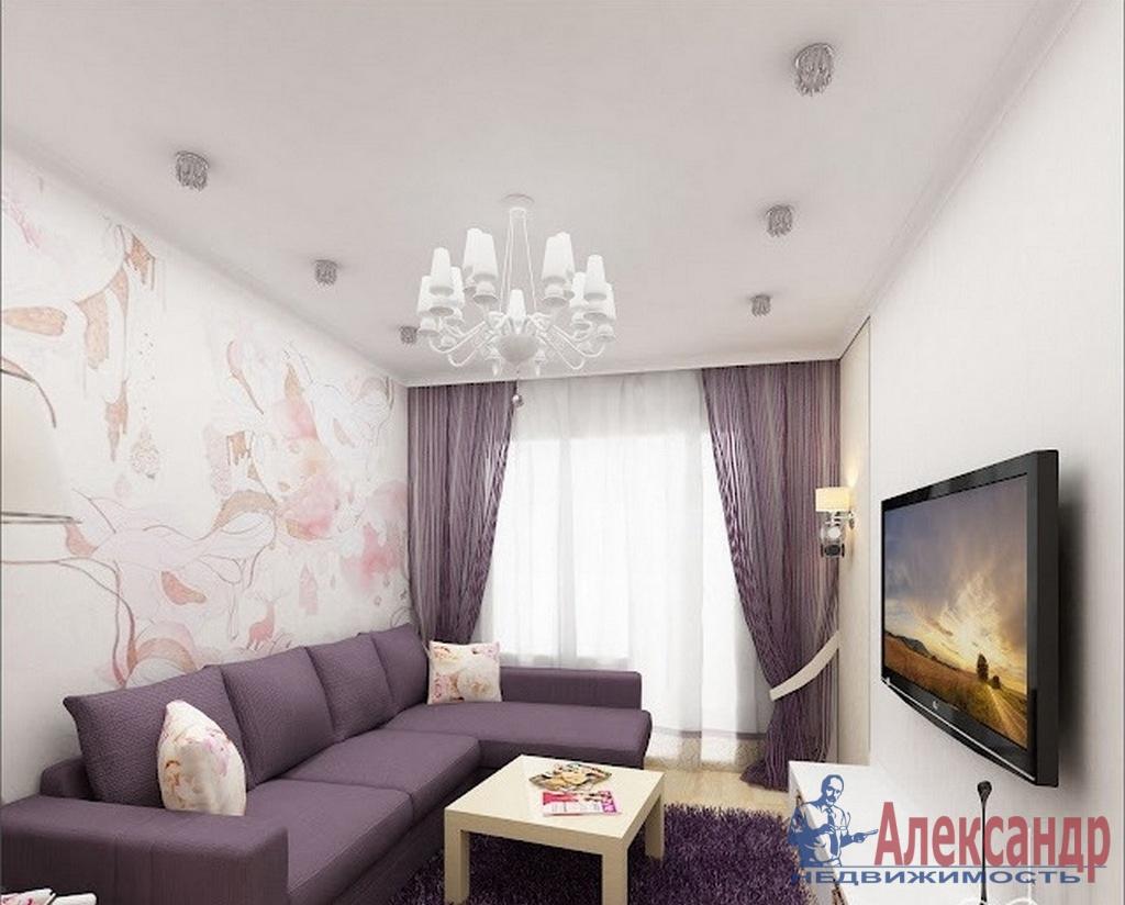 2-комнатная квартира (65м2) в аренду по адресу Дунайский пр., 28— фото 1 из 3