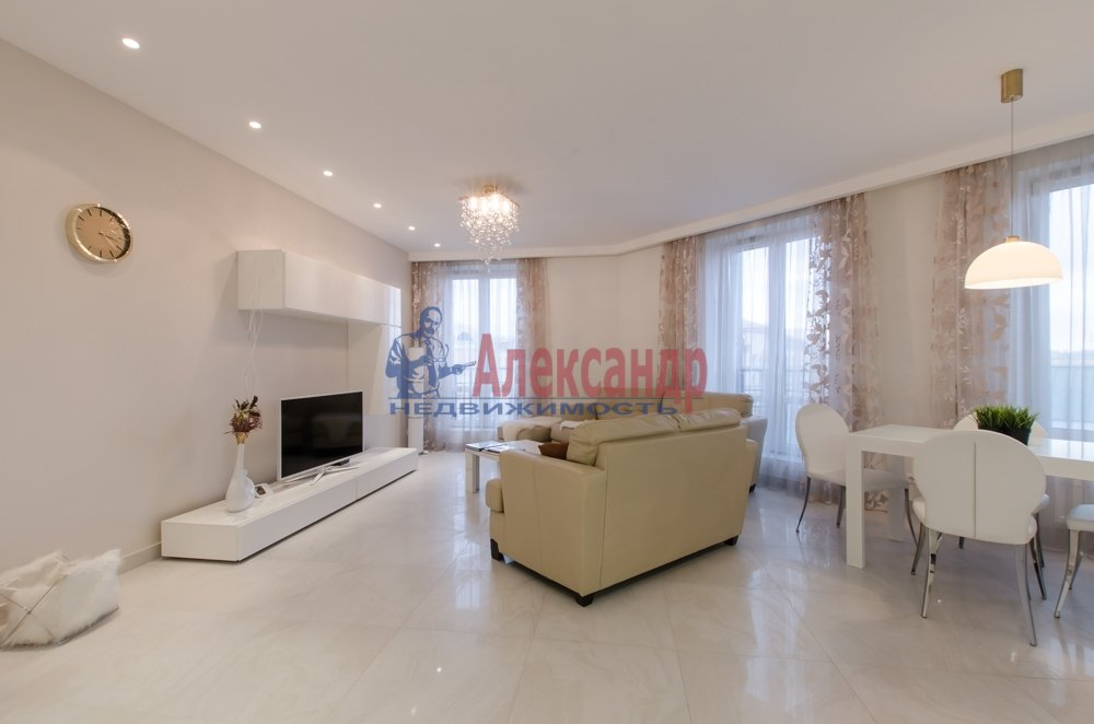 2-комнатная квартира (66м2) в аренду по адресу Чернышевского пр., 4— фото 3 из 27