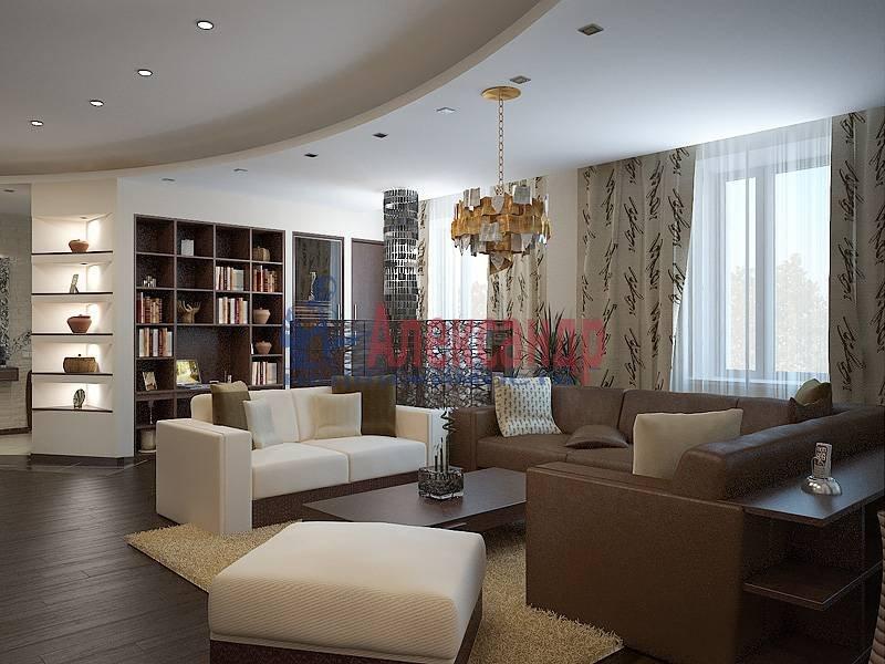 5-комнатная квартира (180м2) в аренду по адресу Московский просп.— фото 1 из 5