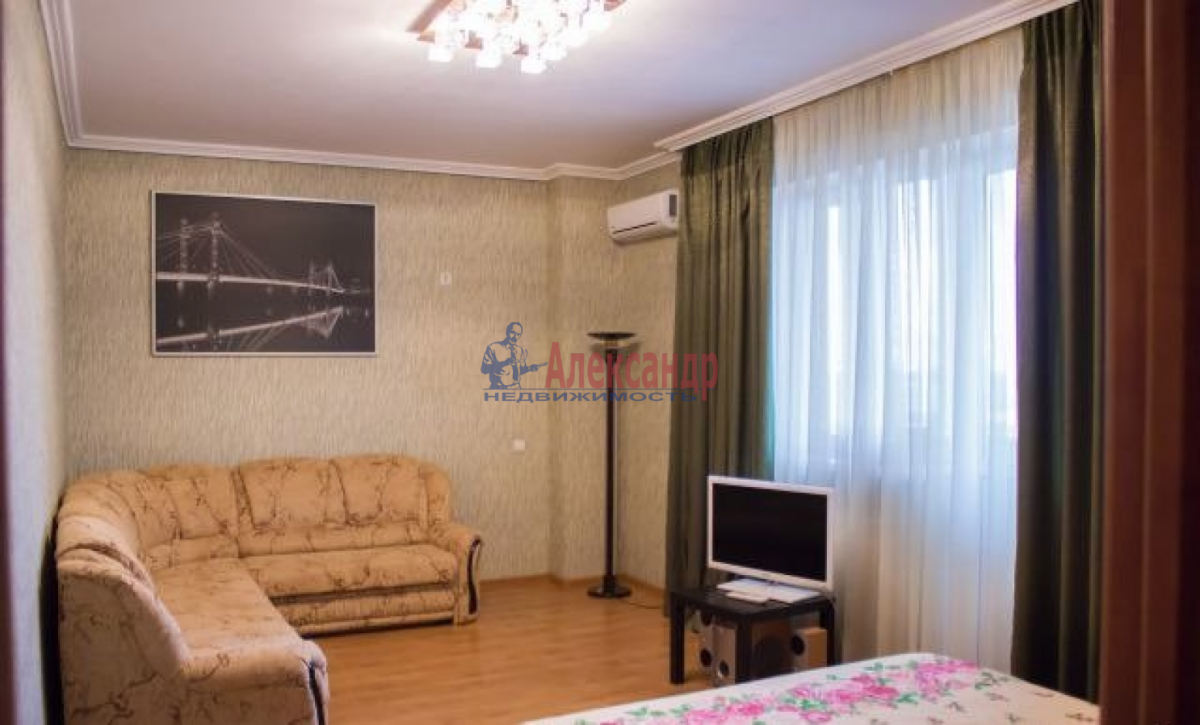 1-комнатная квартира (53м2) в аренду по адресу Дунайский пр., 14— фото 2 из 5