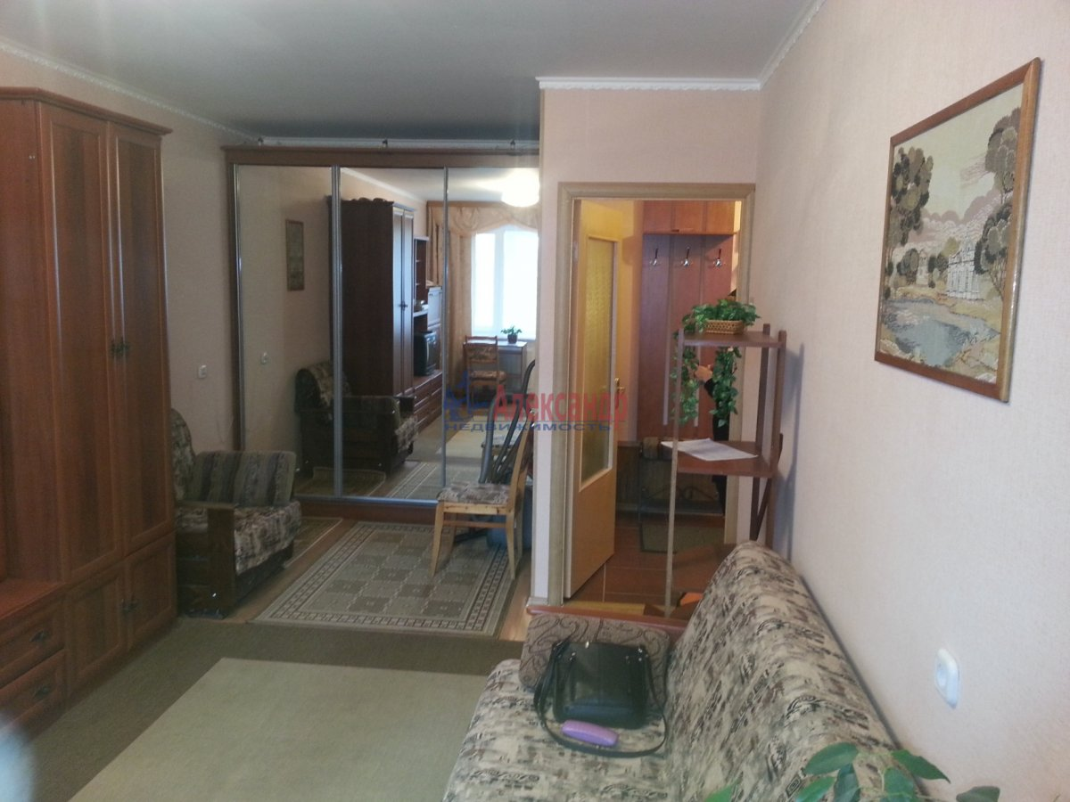 1-комнатная квартира (41м2) в аренду по адресу Авиаконструкторов пр., 34— фото 16 из 24