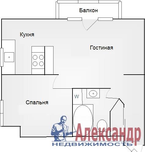 2-комнатная квартира (67м2) в аренду по адресу Ленина ул., 26— фото 5 из 12