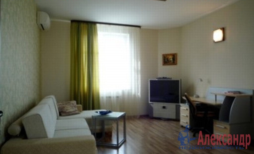 1-комнатная квартира (52м2) в аренду по адресу Кораблестроителей ул., 40— фото 2 из 3