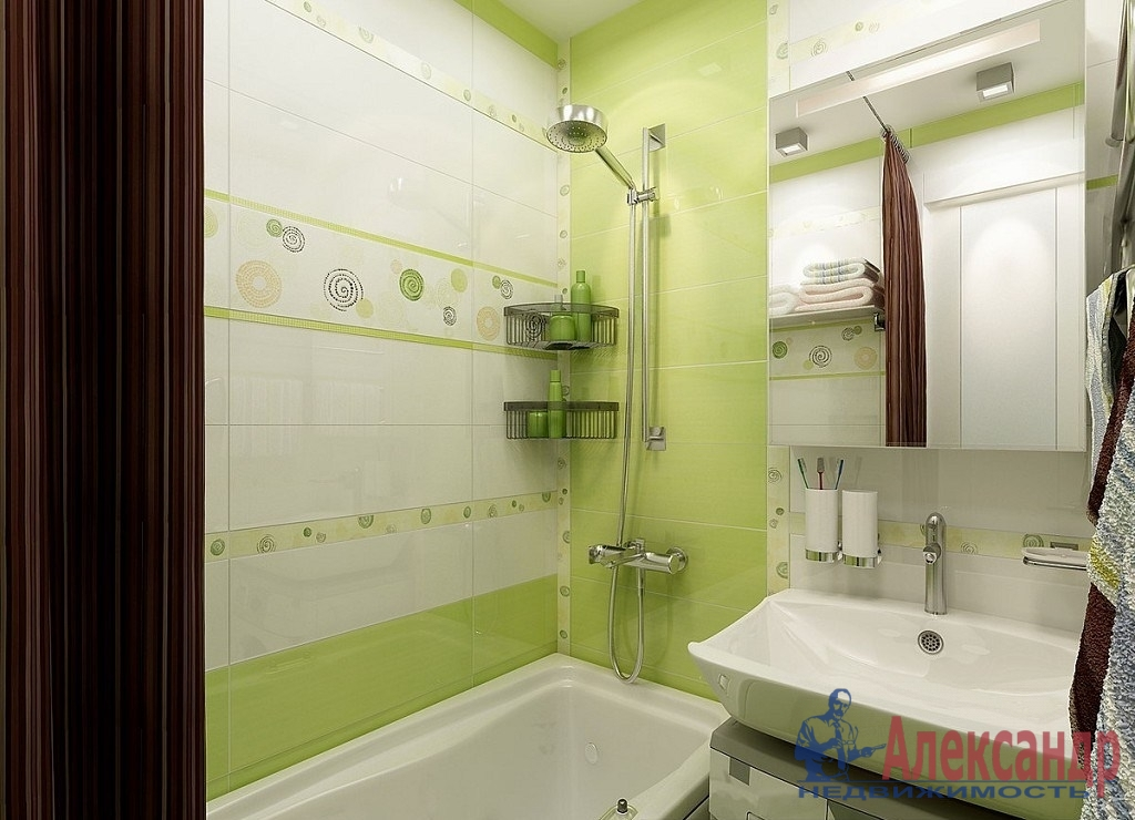 1-комнатная квартира (41м2) в аренду по адресу Дунайский пр., 14— фото 3 из 3