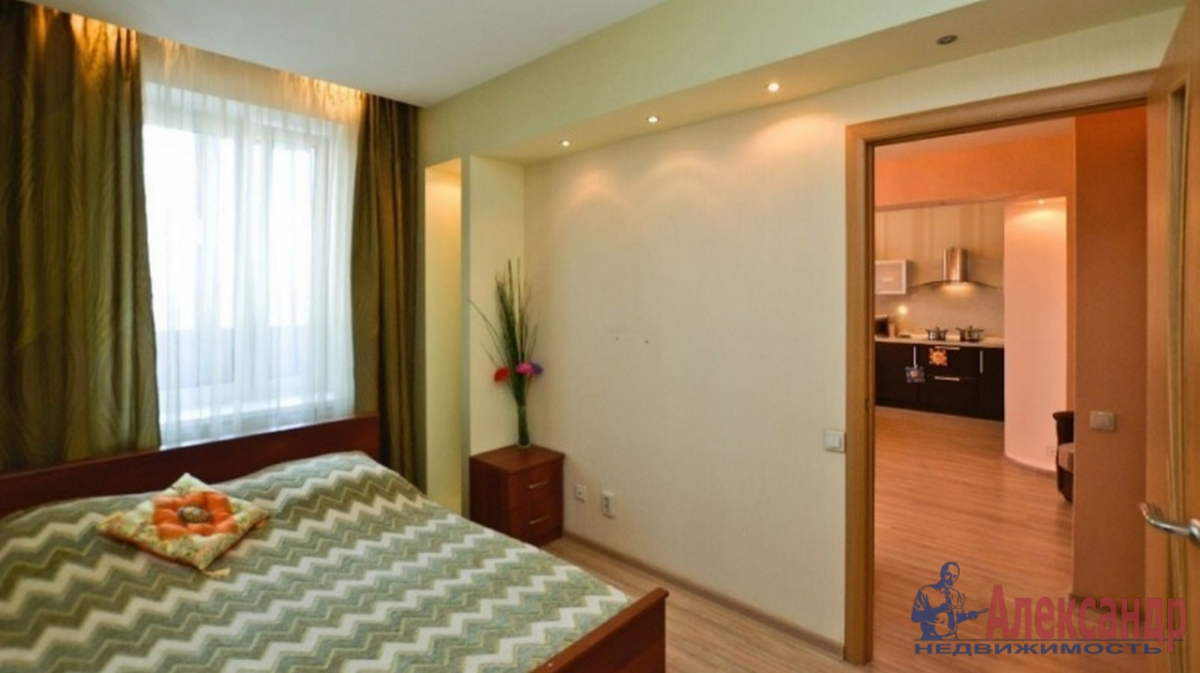 2-комнатная квартира (65м2) в аренду по адресу Коломяжский пр., 15— фото 2 из 3