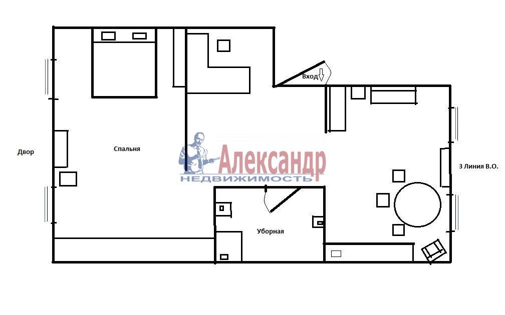 2-комнатная квартира (86м2) в аренду по адресу 3 линия В.О., 54— фото 8 из 8