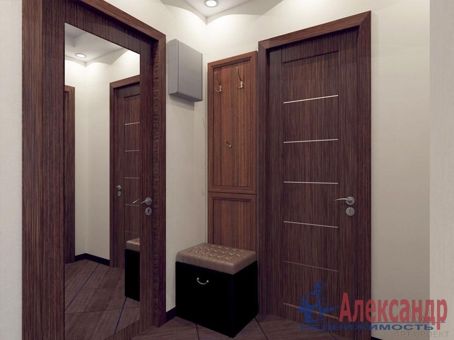 1-комнатная квартира (38м2) в аренду по адресу Дунайский пр., 7— фото 2 из 4